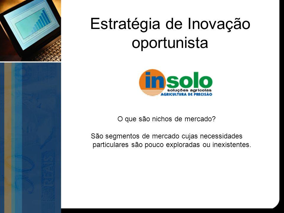 Estratégia de Inovação oportunista O que são nichos de mercado.