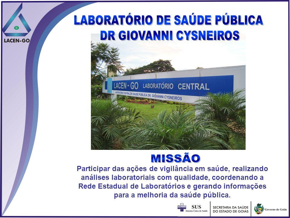 Participar das ações de vigilância em saúde, realizando análises laboratoriais com qualidade, coordenando a Rede Estadual de Laboratórios e gerando in
