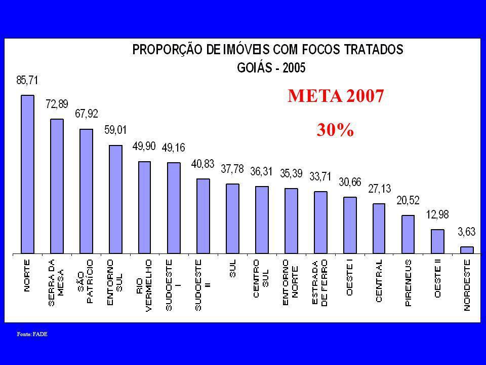 Fonte: DATASUS META 2007 0,6