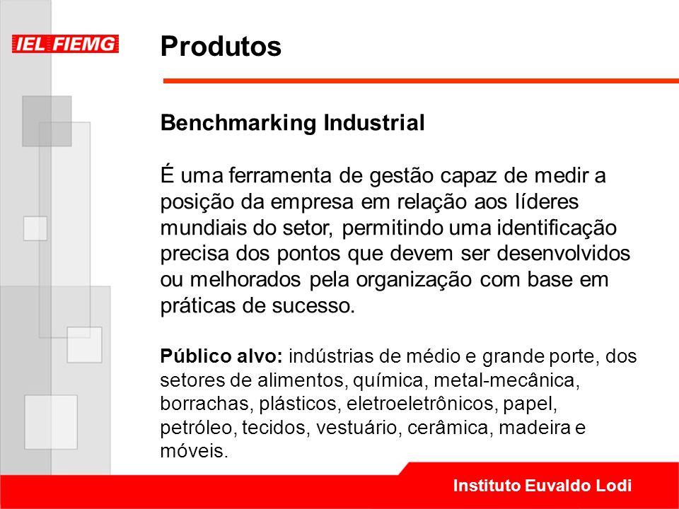 Instituto Euvaldo Lodi Produtos Benchmarking Industrial É uma ferramenta de gestão capaz de medir a posição da empresa em relação aos líderes mundiais