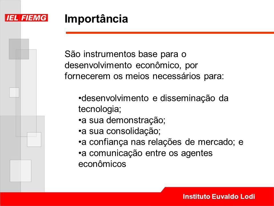 Instituto Euvaldo Lodi Importância São instrumentos base para o desenvolvimento econômico, por fornecerem os meios necessários para: desenvolvimento e