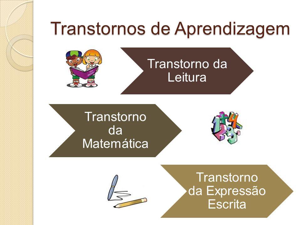 Transtornos de Aprendizagem Transtorno da Leitura Transtorno da Matemática Transtorno da Expressão Escrita