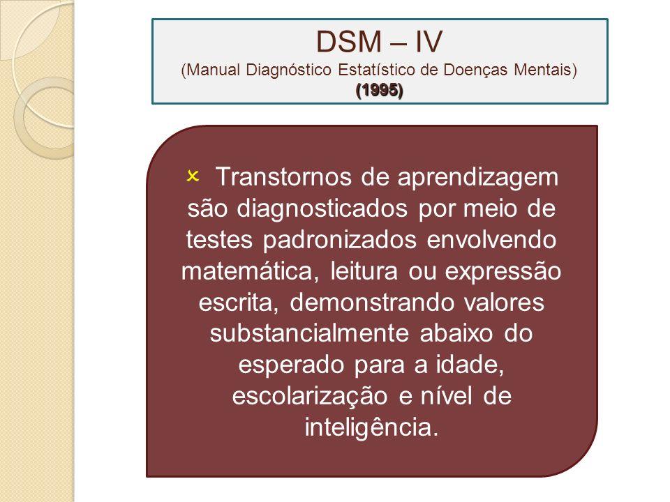 Transtornos nos quais as modalidades habituais de aprendizado estão alteradas desde as primeiras etapas do desenvolvimento.