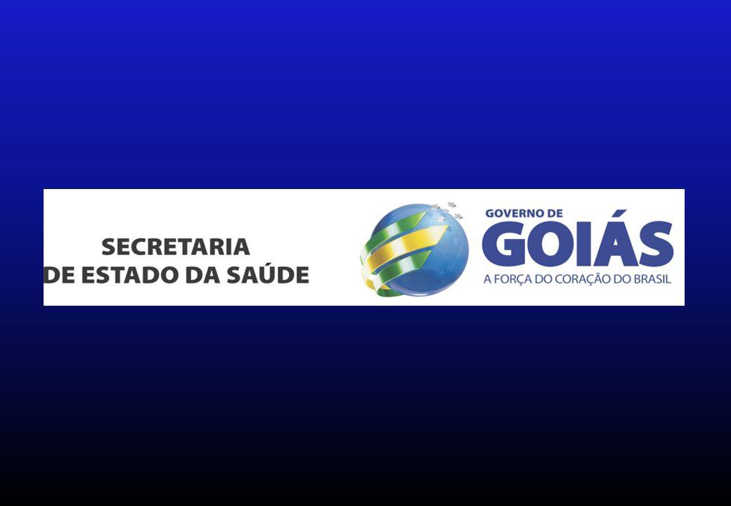 HUGO – Hospital de Urgências de Goiânia; HUAPA – Hospital de Urgências de Aparecida de Goiânia; HGG – Hospital Geral de Goiânia; HMI – Hospital Materno Infantil; HDT – Hospital de Doenças Tropicais; HMA - Hospital de Medicina Alternativa; HEELJ – Hospital Estadual Ernestina Lopes Jaime; HEMOGO – Hemocentro de Goiás; CO-GO – Central de Odontologia de Goiânia LACEN-GO – Laboratório Central de Saúde Pública – Dr.