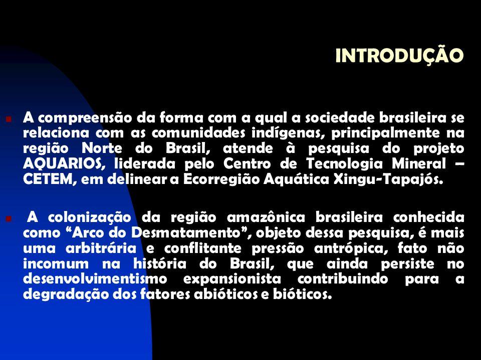 INTRODUÇÃO A compreensão da forma com a qual a sociedade brasileira se relaciona com as comunidades indígenas, principalmente na região Norte do Brasi