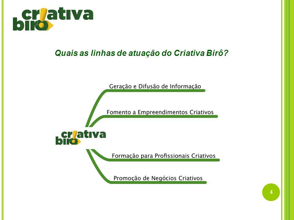 4 Quais as linhas de atuação do Criativa Birô?