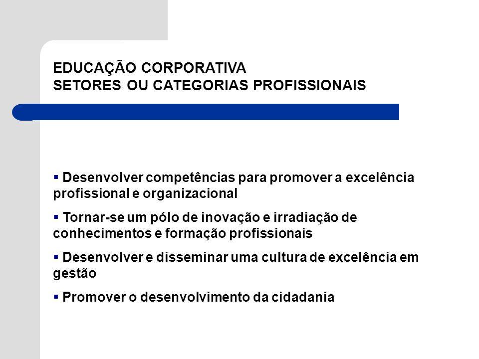 EDUCAÇÃO CORPORATIVA SETORES OU CATEGORIAS PROFISSIONAIS PROF A MARISA EBOLI FEA/USP - BRASIL Desenvolver competências para promover a excelência prof