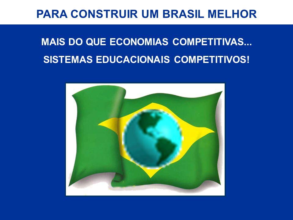 MAIS DO QUE ECONOMIAS COMPETITIVAS... SISTEMAS EDUCACIONAIS COMPETITIVOS! PARA CONSTRUIR UM BRASIL MELHOR