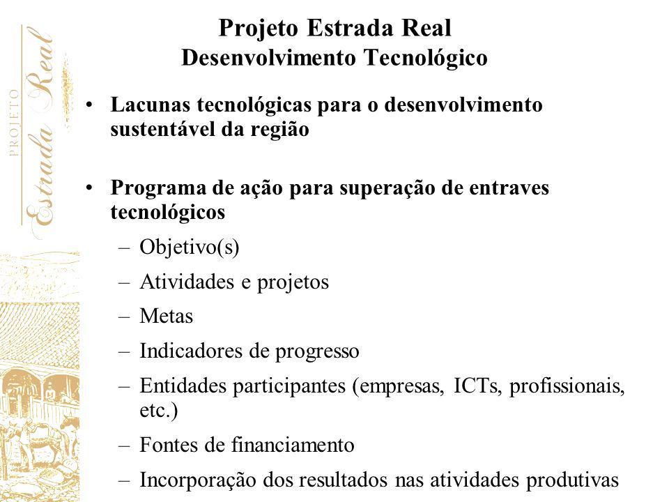 Lacunas tecnológicas para o desenvolvimento sustentável da região Programa de ação para superação de entraves tecnológicos –Objetivo(s) –Atividades e