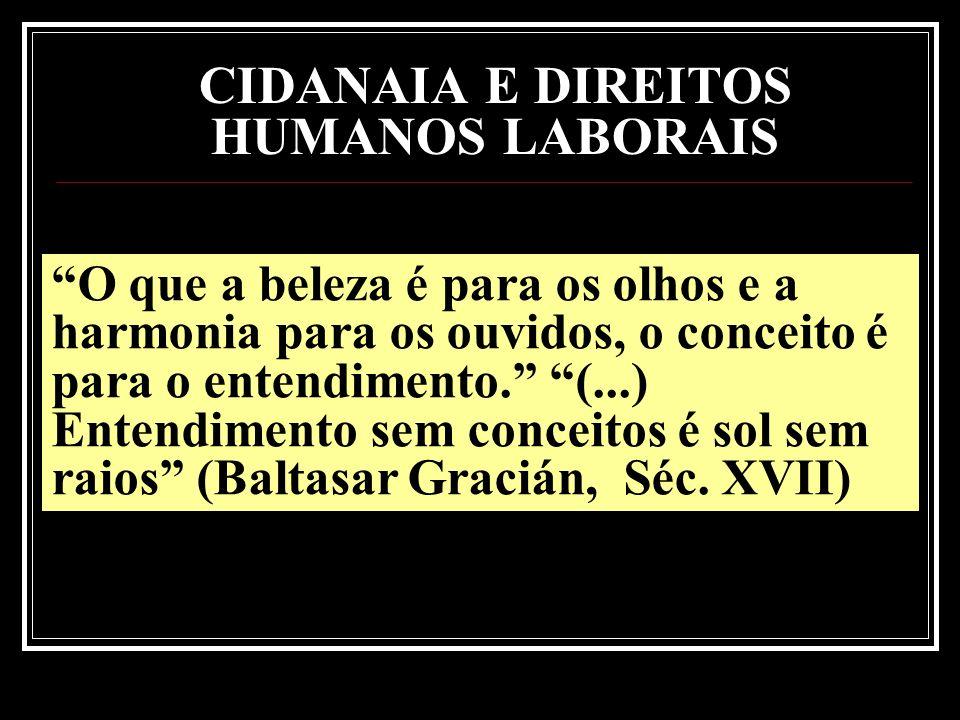 CIDANAIA E DIREITOS HUMANOS LABORAIS SÃO DIREITOS NATURAIS NASCEM COM A PESSOA HUMANA A PESSOA, SIMPLESMENTE POR SER HUMANA, FAZ JUS AOS DIREITOS HUMANOS- LABORAIS.