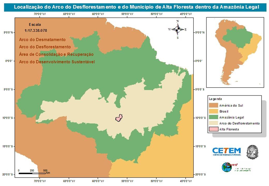 Arco do Desmatamento Arco do Desflorestamento Área de Consolidação e Recuperação Arco do Desenvolvimento Sustentável