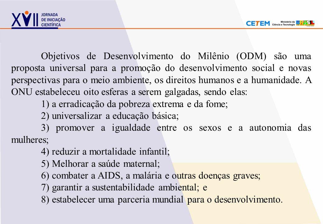 Objetivos de Desenvolvimento do Milênio (ODM) são uma proposta universal para a promoção do desenvolvimento social e novas perspectivas para o meio am