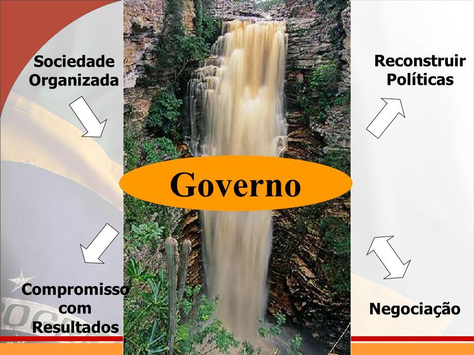 Sociedade Organizada Reconstruir Políticas Governo Negociação Compromisso com Resultados