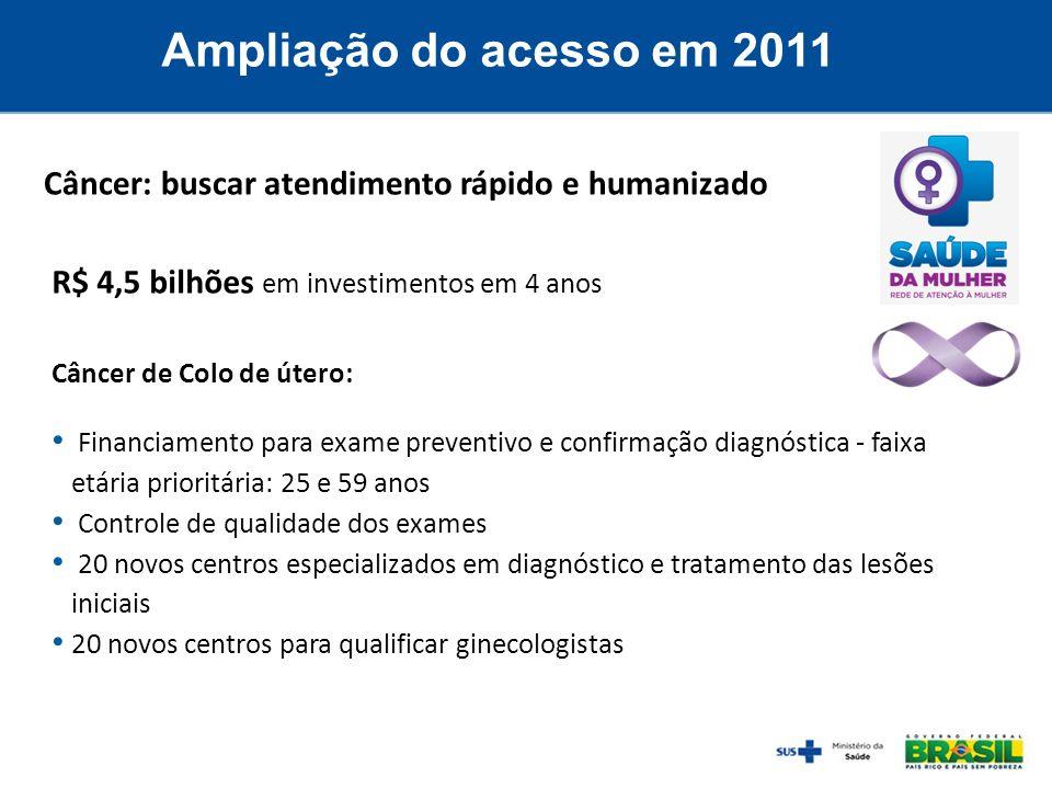 Câncer de Colo de útero: Financiamento para exame preventivo e confirmação diagnóstica - faixa etária prioritária: 25 e 59 anos Controle de qualidade