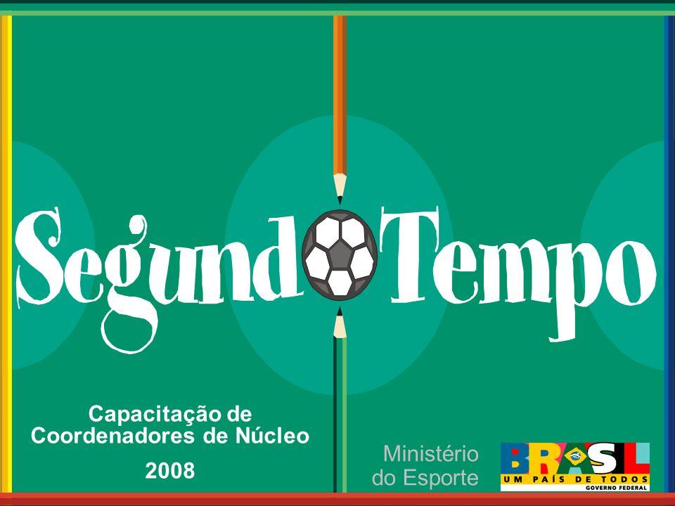 Ministério do Esporte Capacitação de Coordenadores de Núcleo 2008