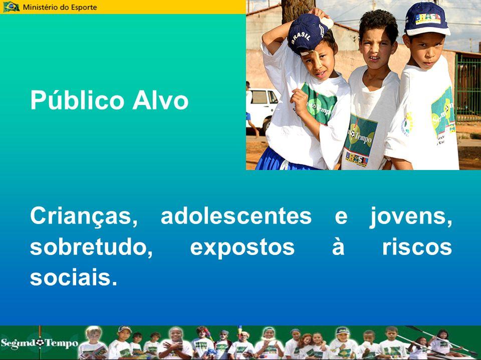 Público Alvo Crianças, adolescentes e jovens, sobretudo, expostos à riscos sociais.
