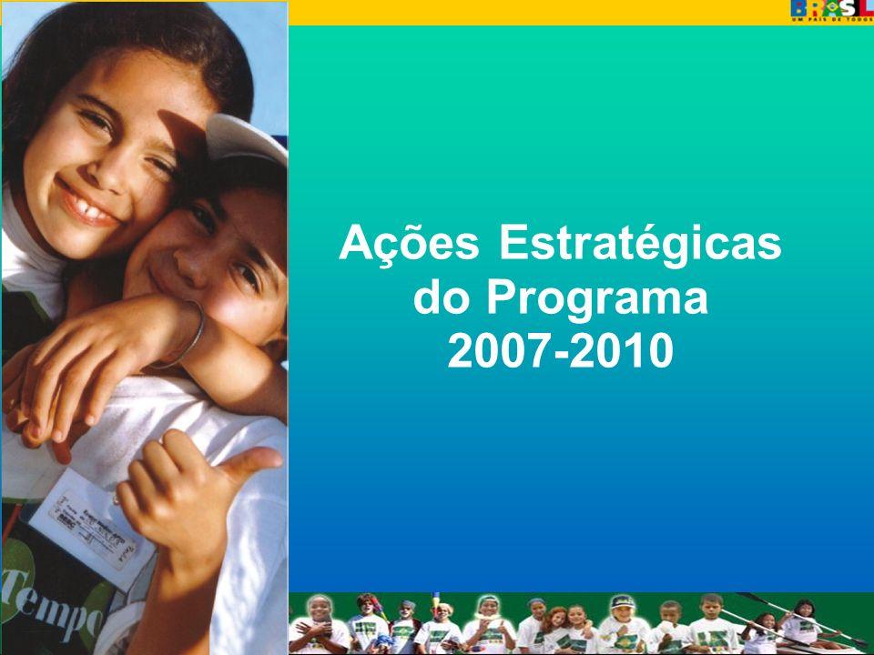 Ações Estratégicas do Programa 2007-2010