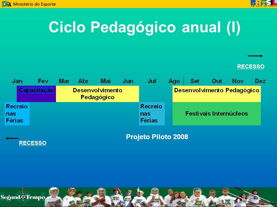 Ciclo Pedagógico anual (I) RECESSO Projeto Piloto 2008
