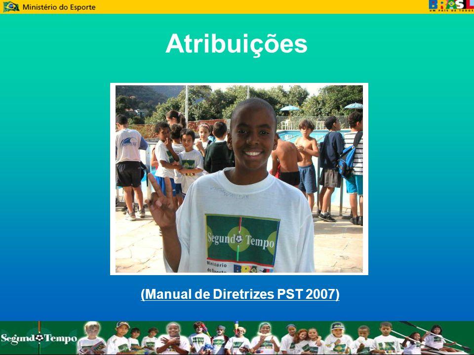 Atribuições (Manual de Diretrizes PST 2007)