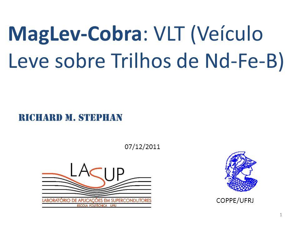 11 MagLev-Cobra: VLT (Veículo Leve sobre Trilhos de Nd-Fe-B) 07/12/2011 Richard M. Stephan COPPE/UFRJ
