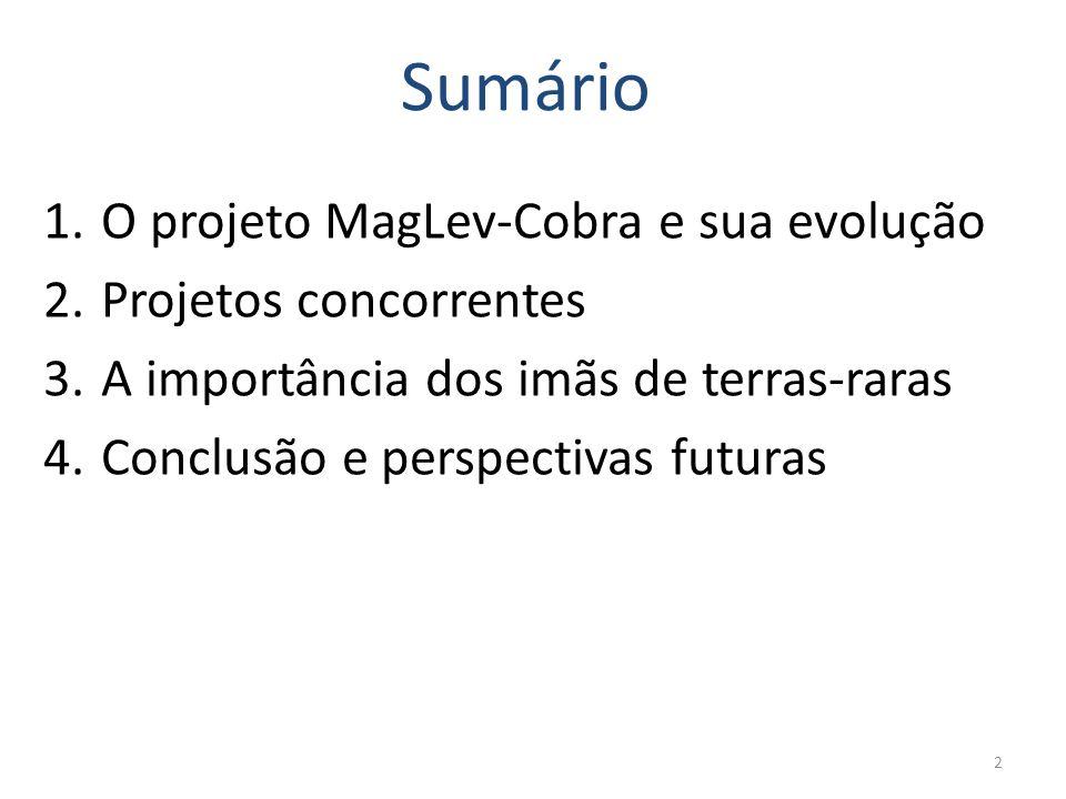 3 1. O projeto MagLev-Cobra e sua evolução