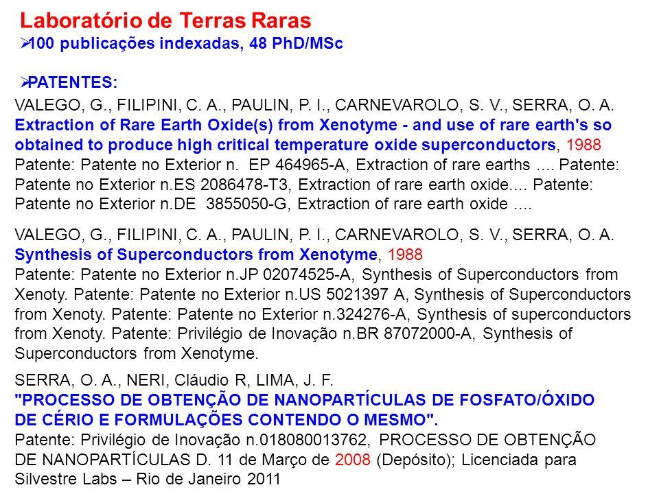 SERRA, O. A., NERI, Cláudio R, LIMA, J. F.