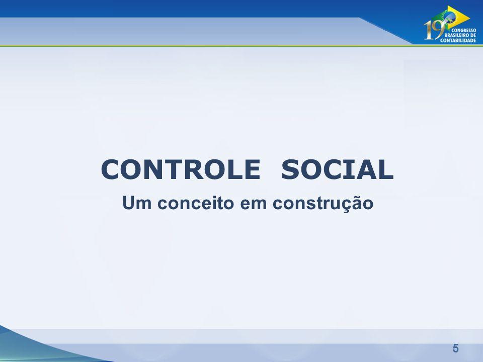 5 CONTROLE SOCIAL Um conceito em construção