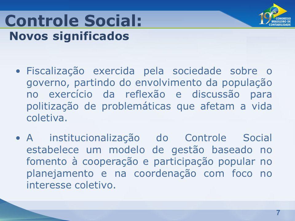 7 Fiscalização exercida pela sociedade sobre o governo, partindo do envolvimento da população no exercício da reflexão e discussão para politização de