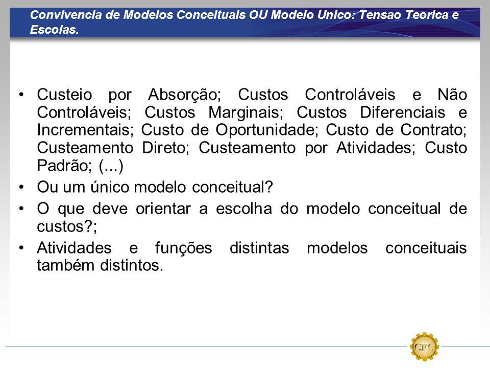 Convivencia de Modelos Conceituais OU Modelo Unico: Tensao Teorica e Escolas.