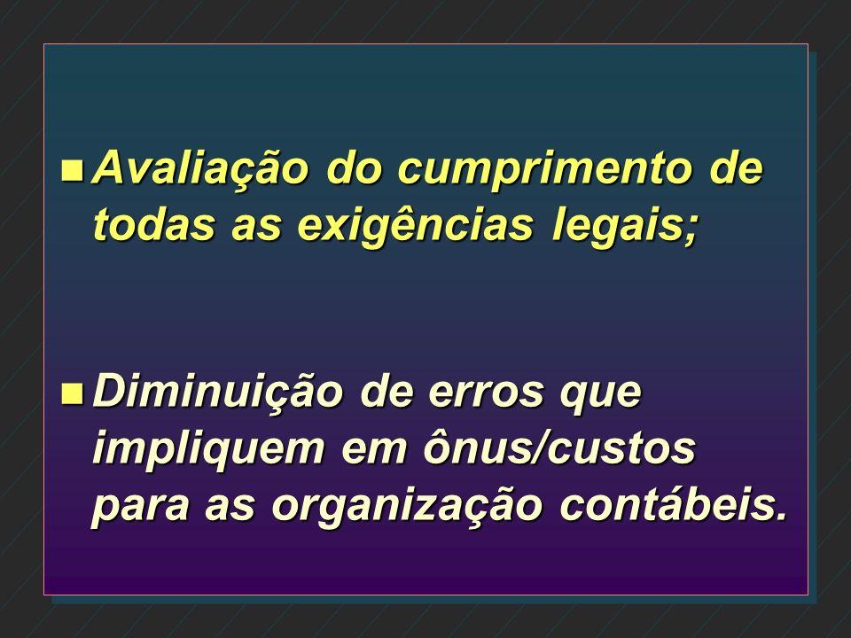 n Observação do cumprimento de normas internas e da legislação; n Avaliação da qualidade na execução de tarefas.