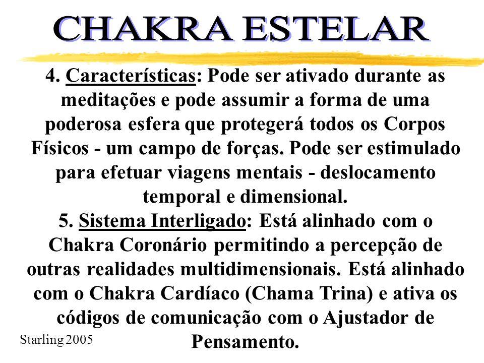 Starling 2005 4. Características: Pode ser ativado durante as meditações e pode assumir a forma de uma poderosa esfera que protegerá todos os Corpos F