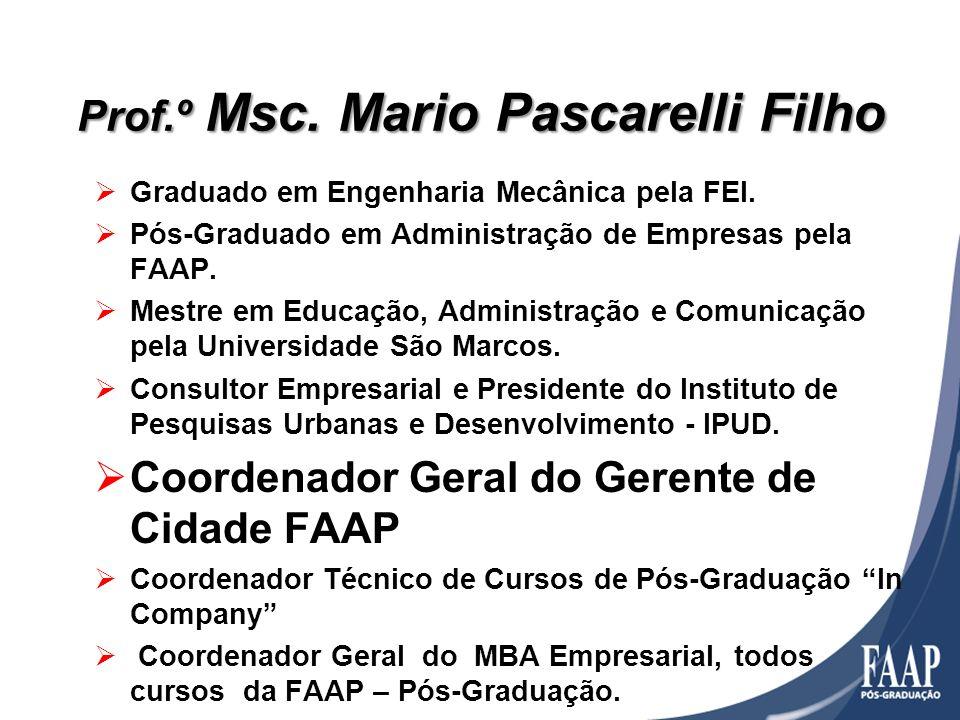Graduado em Engenharia Mecânica pela FEI. Pós-Graduado em Administração de Empresas pela FAAP. Mestre em Educação, Administração e Comunicação pela Un
