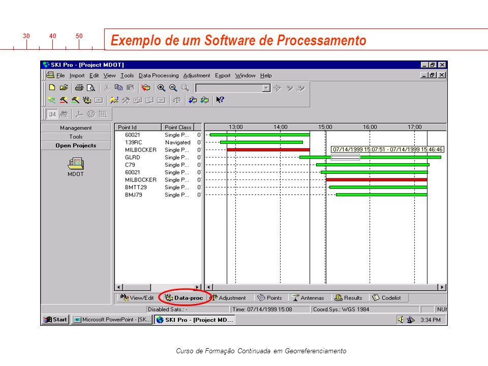 3040 50 Curso de Formação Continuada em Georreferenciamento Exemplo de um Software de Processamento