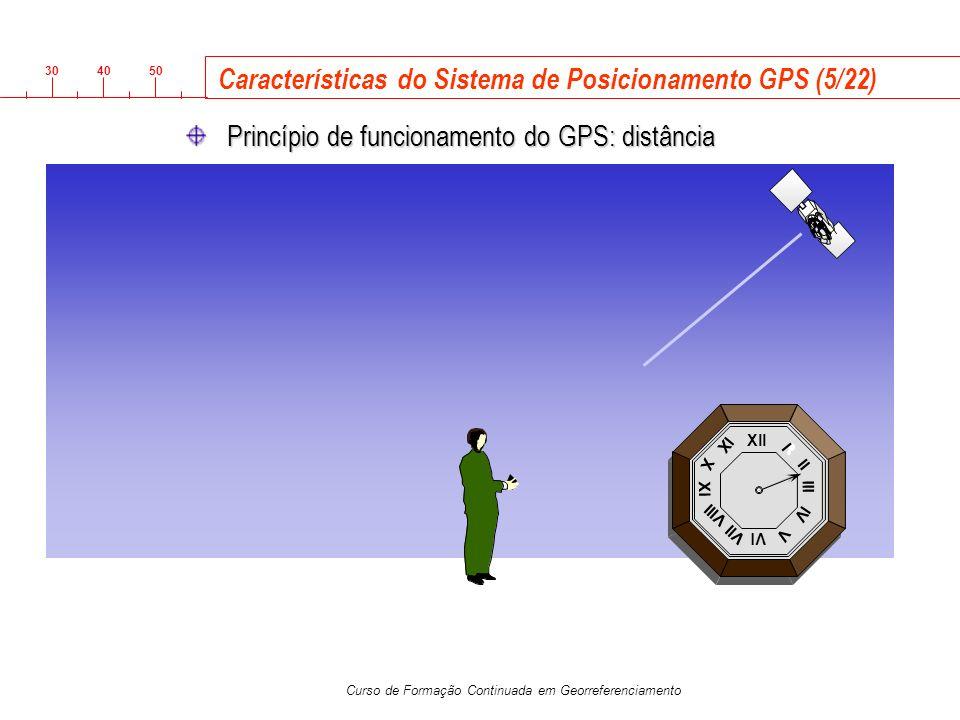 3040 50 Curso de Formação Continuada em Georreferenciamento Xll Vl Xl lll l ll lV V Vll Vlll X lX Características do Sistema de Posicionamento GPS (5/