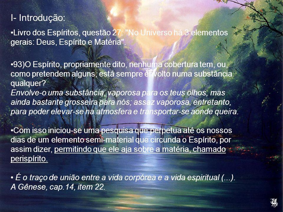 I- Introdução: Livro dos Espíritos, questão 27:
