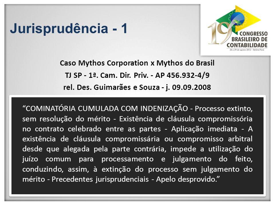 Jurisprudência - 1 Caso Mythos Corporation x Mythos do Brasil TJ SP - 1ª. Cam. Dir. Priv. - AP 456.932-4/9 rel. Des. Guimarães e Souza - j. 09.09.2008
