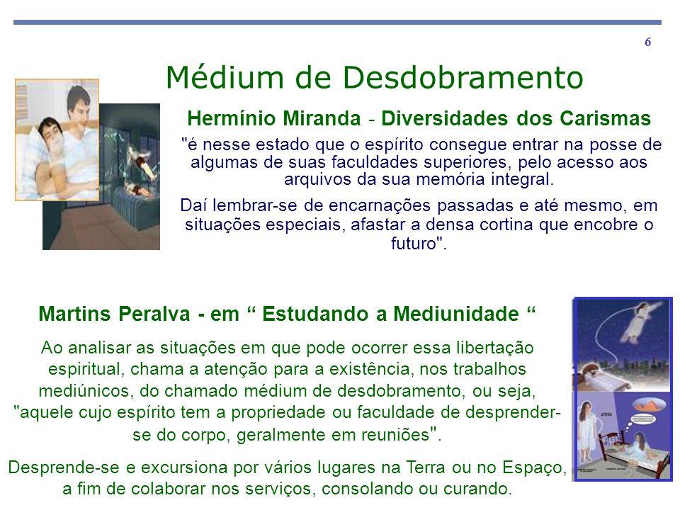 6 Hermínio Miranda - Diversidades dos Carismas é nesse estado que o espírito consegue entrar na posse de algumas de suas faculdades superiores, pelo acesso aos arquivos da sua memória integral.