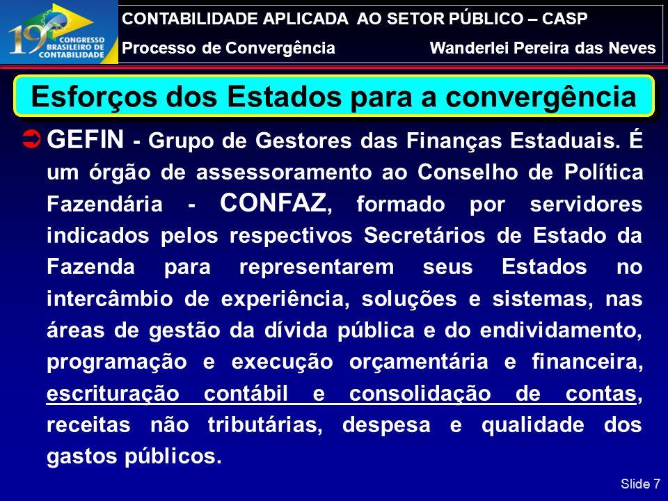 CONTABILIDADE APLICADA AO SETOR PÚBLICO – CASP Processo de ConvergênciaWanderlei Pereira das Neves Slide 27 Volume dos Riscos Fiscais – Possível Impacto: