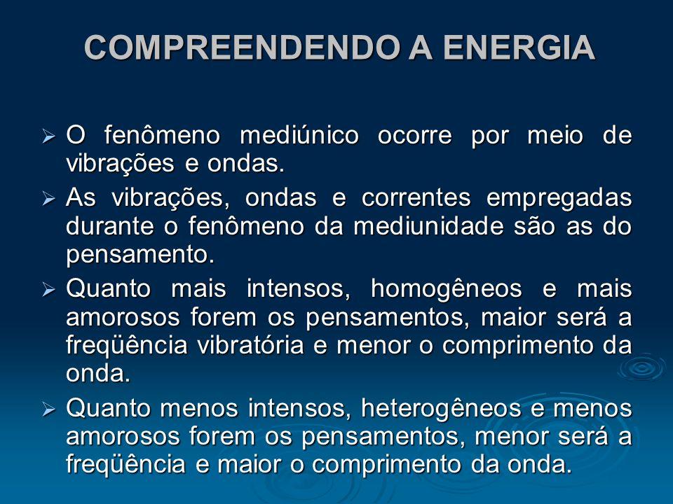 COMPREENDENDO A ENERGIA O fenômeno mediúnico ocorre por meio de vibrações e ondas. O fenômeno mediúnico ocorre por meio de vibrações e ondas. As vibra