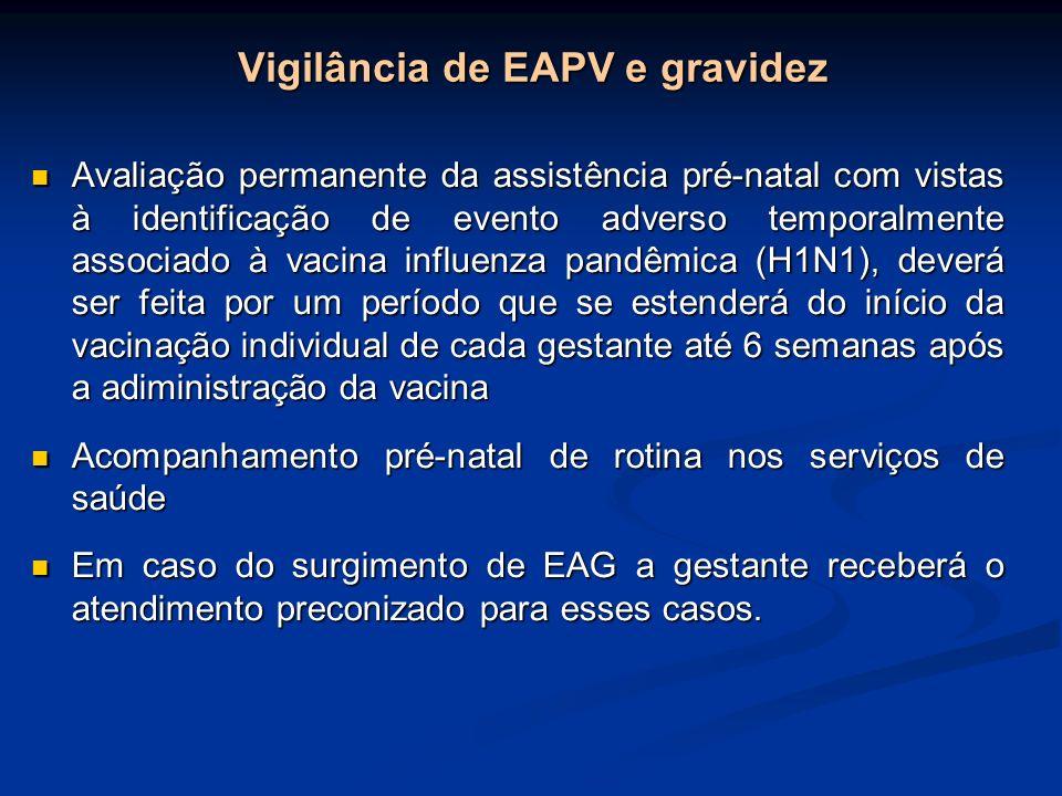 Vigilância de EAPV e gravidez Avaliação permanente da assistência pré-natal com vistas à identificação de evento adverso temporalmente associado à vac