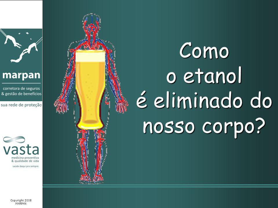 Como o etanol é eliminado do nosso corpo? Copyright 2008 MARPAN