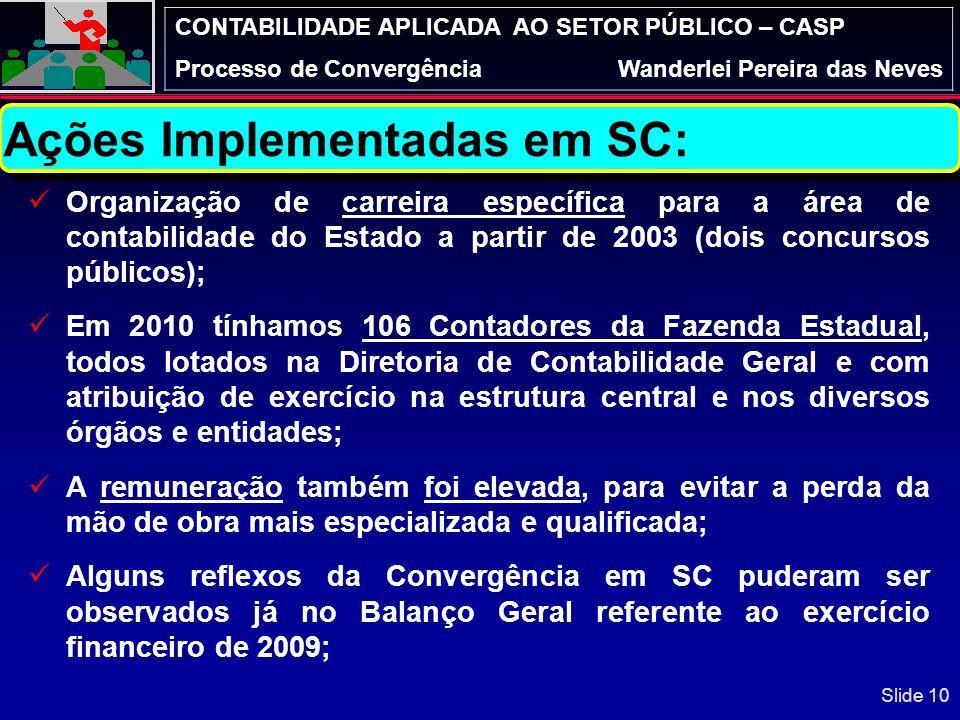 CONTABILIDADE APLICADA AO SETOR PÚBLICO – CASP Processo de ConvergênciaWanderlei Pereira das Neves Principais dificuldades apontadas pelos Estados, co