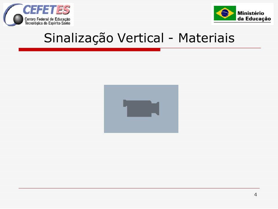 4 Sinalização Vertical - Materiais