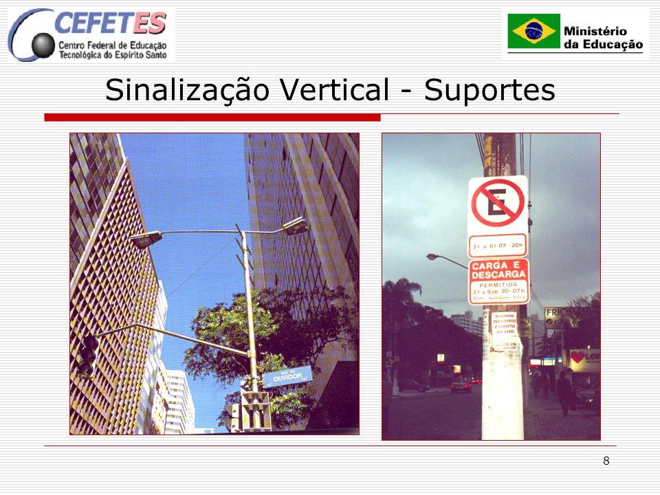 8 Sinalização Vertical - Suportes