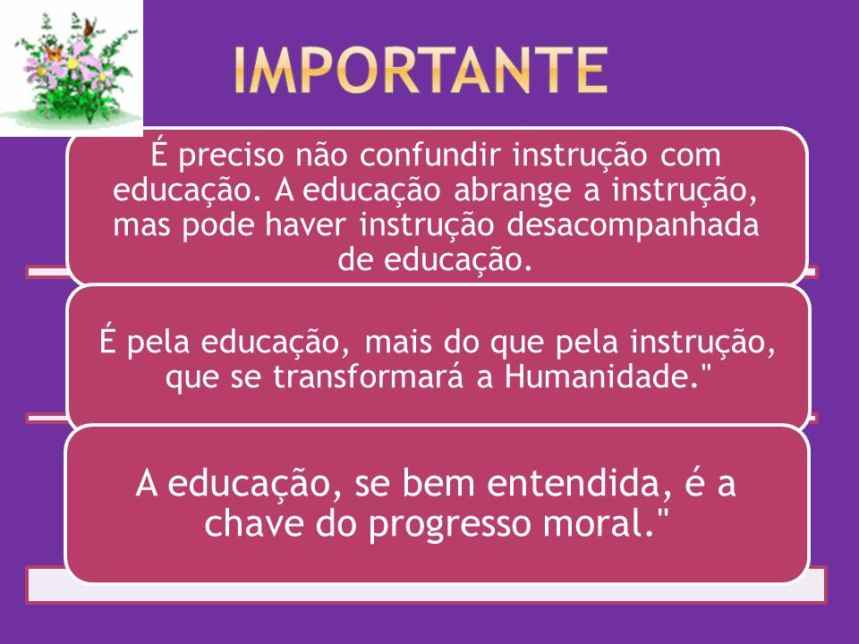É preciso não confundir instrução com educação.