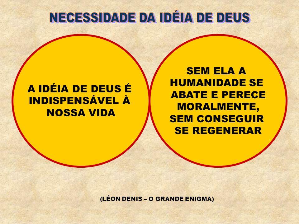 NÃO PERGUNTES SE DEUS É UM FOCO GERADOR DE MUNDOS OU SE É UMA FORÇA IRRADIANDO VIDAS NÃO POSSUÍMOS AINDA A INTELIGÊNCIA SUSCETÍVEL DE REFLETIR-LHE A GRANDEZA, MAS TRAZEMOS O CORAÇÃO CAPAZ DE SENTIR-LHE O AMOR (FONTE VIVA)