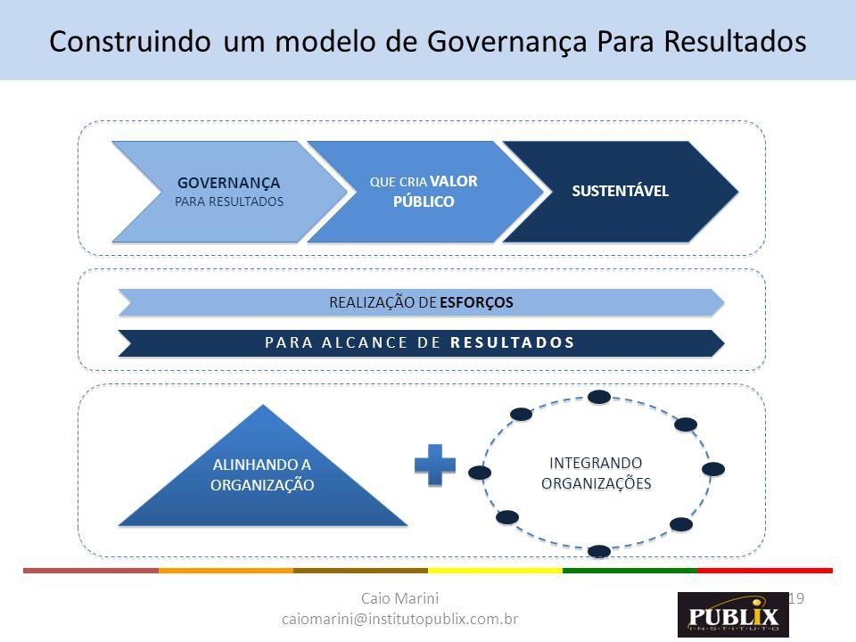 Caio Marini caiomarini@institutopublix.com.br 19 INTEGRANDO ORGANIZAÇÕES REALIZAÇÃO DE ESFORÇOS PARA ALCANCE DE RESULTADOS ALINHANDO A ORGANIZAÇÃO ALI