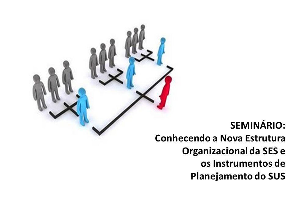 SEMINÁRIO: Conhecendo a Nova Estrutura Organizacional da SES e os Instrumentos de Planejamento do SUS