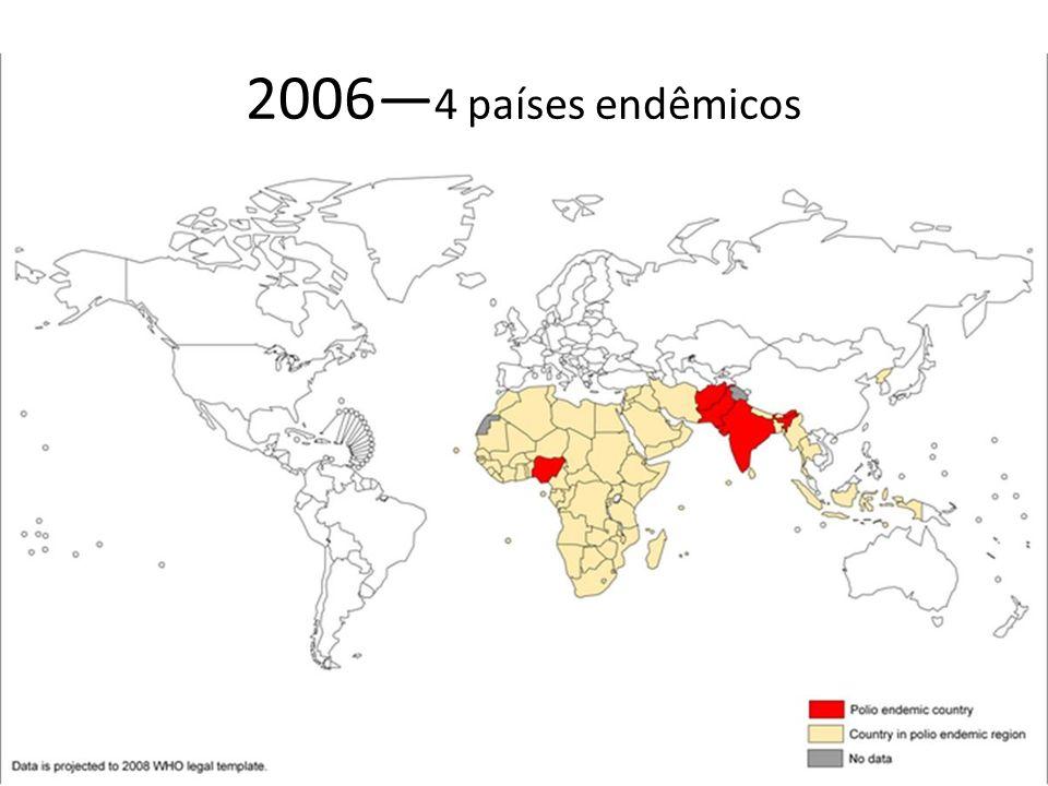 2006 4 países endêmicos