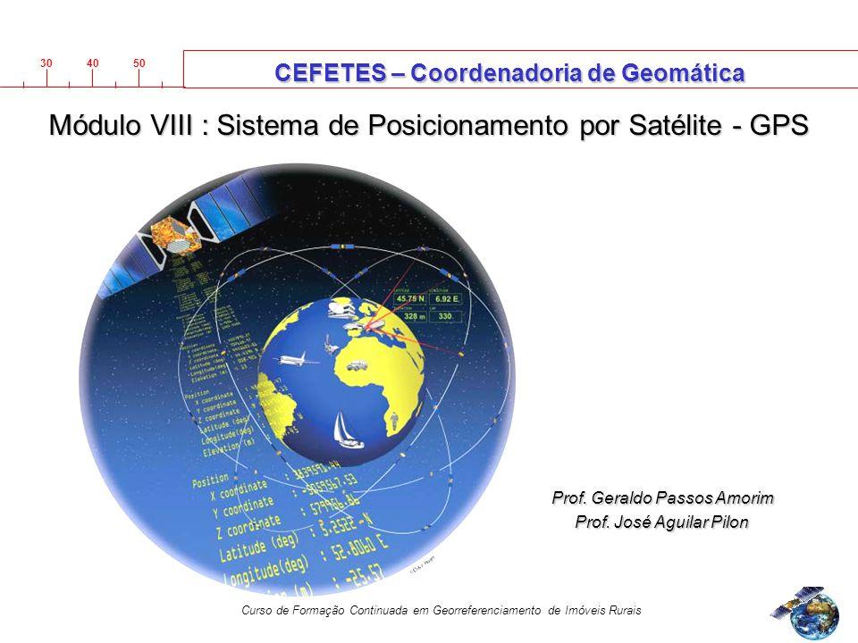 3040 50 Curso de Formação Continuada em Georreferenciamento de Imóveis Rurais Prof.